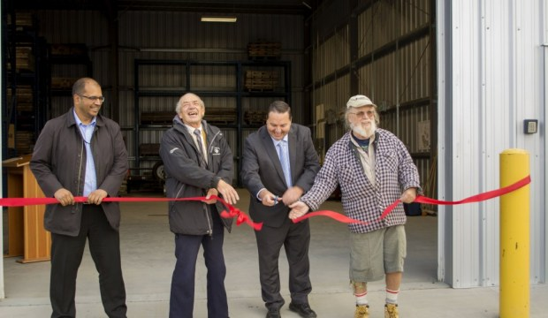 Official opening of the Geological Materials Storage Facility in September 2017.
