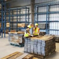 Organising core in the NWT Geological Materials Storage Facility. (Credit: NTGS)
