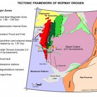 Geological setting and location of the South Wopmay Bedrock Mapping Project. Credit: NTGS.