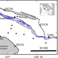 Map showing location of installed seismic stations