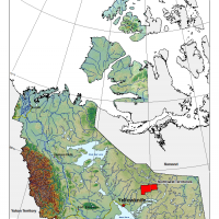 General location of the central Slave craton area (covering NTS map sheets 75M and N), Northwest Territories