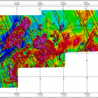 Residual Total Magnetic Field of the central Slave craton survey area, Northwest Territories
