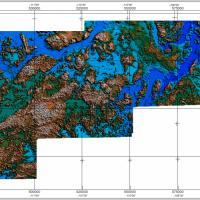 Digital Elevation Model of the central Slave craton survey area, Northwest Territories.