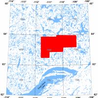 Location of aeromagnetic survey block in the central Slave craton area, Northwest Territories.