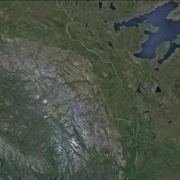 Satellite image of Mackenzie Mountains