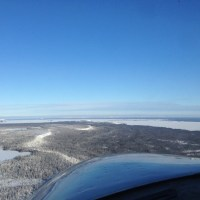 Photo taken from the aircraft during the aeromagnetic survey.  Credit: Kurtis Schindel