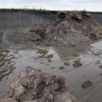 Headwall of thaw slump