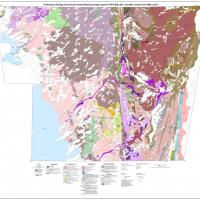Preliminary geology map of the south Wopmay Bedrock mapping area. Credit: NTGS.