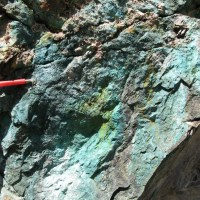 New discovery of copper found along the Wopmay River. Credit: NTGS.