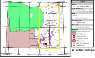 Figure 2. Fort Liard Reservoir Characterization Project Study Area.