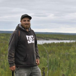 Aaron Doan, 2017 summer student at the Northwest Territories Geological Survey.