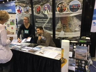 Beth Fischer and Landen Powell are available to answer questions at Roundup 2018. Credit: Angela Norris.