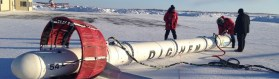 CGG Dighem EM System bird used for electromagnetic and horizontal-gradient magnetic survey of the central Slave craton area, Northwest Territories, (Credit: NTGS)