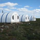 Novus Gold exploration camp - Izok Lake area. Credit NTGS